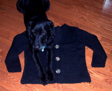 Black Cardigan for buttons